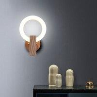Anel LEVOU Parede do Quarto Da Lâmpada de Cabeceira De Madeira moderna Luminária Arandela Luminárias Lâmpada de Parede Luzes Sala de estar Corredor Luz Interior|Luminárias de parede|Luzes e Iluminação -