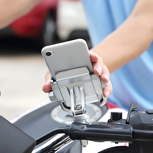 Image 4 - 360 Degree Motorcycle Handlebar Mount Holder For 4 6 Cell Phone GPS Silver
