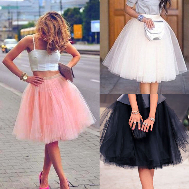c9559ec70b Fashion Ladies Tutu Skirt Women Adult Layers Tulle Skirt High Waist Princess  Lady Girls Ballet Tutu Dance Skirt