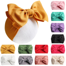 цена на 7 Inch Big Bow Headband For Girls 2019 Solid Large Hair Bows Elastic Turban Head Wraps scarf cute Knot Hairband Hair Accessories