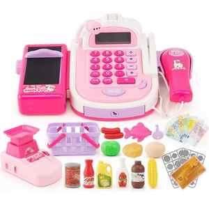 Counter Register Cashier Supermarket Pretend Play Plastic Children Mini Role Checkout