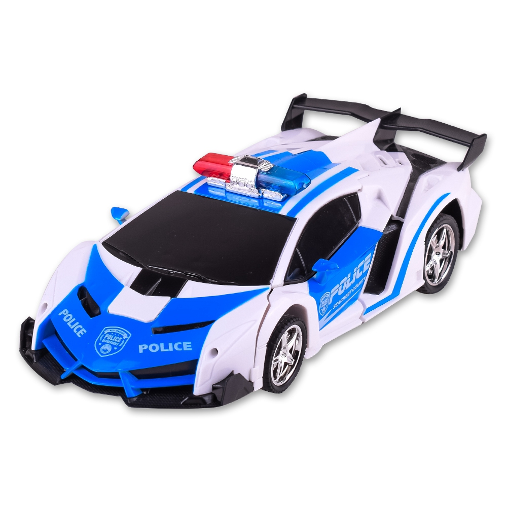 RC Car Transformation Robots Sports Vehicle Model Robots Car Toys Cool Deformation Car Kids Toys Gifts For Boys image