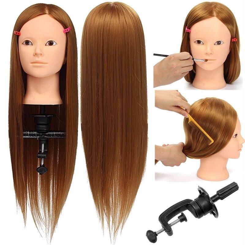 Волосы-манекены 24 дюйма, 100% высокотемпературное волокно, для укладки волос, волосы блонд, длинные волосы, прическа, Парикмахерская трениров...