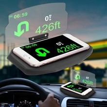 SPEEDWOW Universal HUD Head Up Display Mobile Phone Holder Car Speedometer Projector Hud Digital For iPhone Samsung GPS