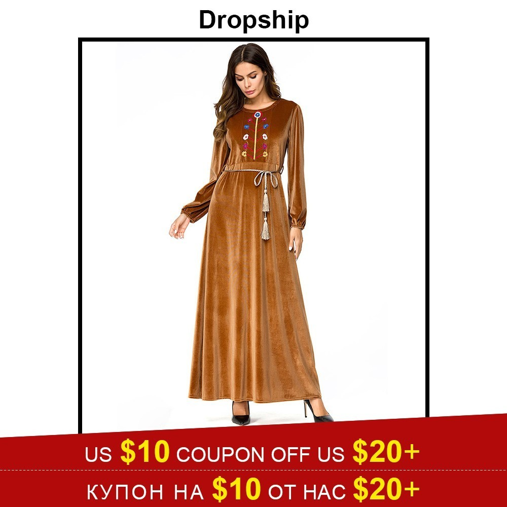 Dresses Dropship Dress Women Dresses Summer Long Maxi Plus Size Vestidos Vintage Verano 2019 Robe Femme Embroidery Tassel Lace Up Cotton To Have A Unique National Style