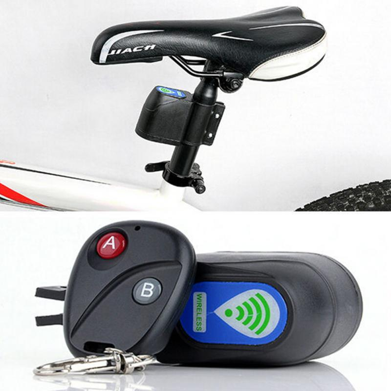Equipment Cable Lock Alarm Anti Theft Security 2.4m Bike Motorcycle Bicycle H.D