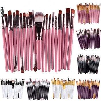 20 pcs Professional Kabuki Makeup Brush Set Cosmetic Foundation Powder Brushes kit Nylon Hair Eyebrow Eyeshadow Portable Brush