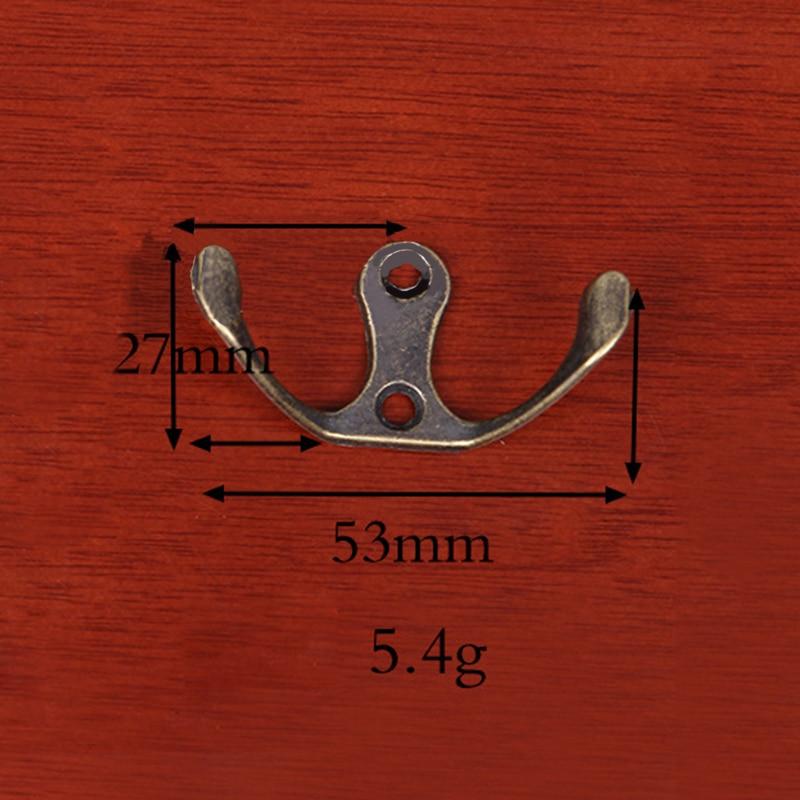 10x Wall Hook Zinc Alloy Antique Hook Hanger For Key Clothes Coat Hat Bag Towel Cloth Hook Hanger Metal Wall Hanging Hook