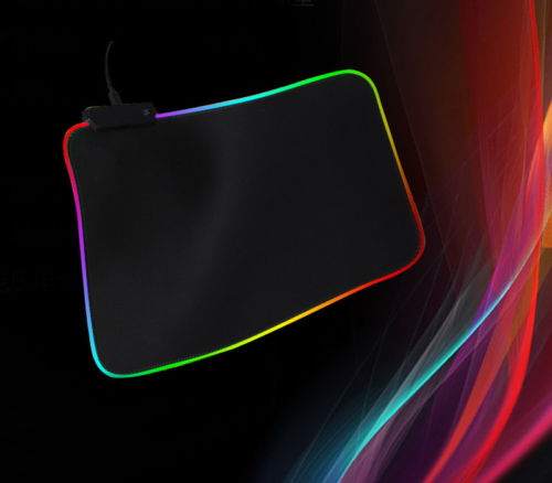 2019 Hote Large RGB Colorful LED Lighting Mouse Mat Gaming Mouse Pad 350x250x3mm Desk Mat for