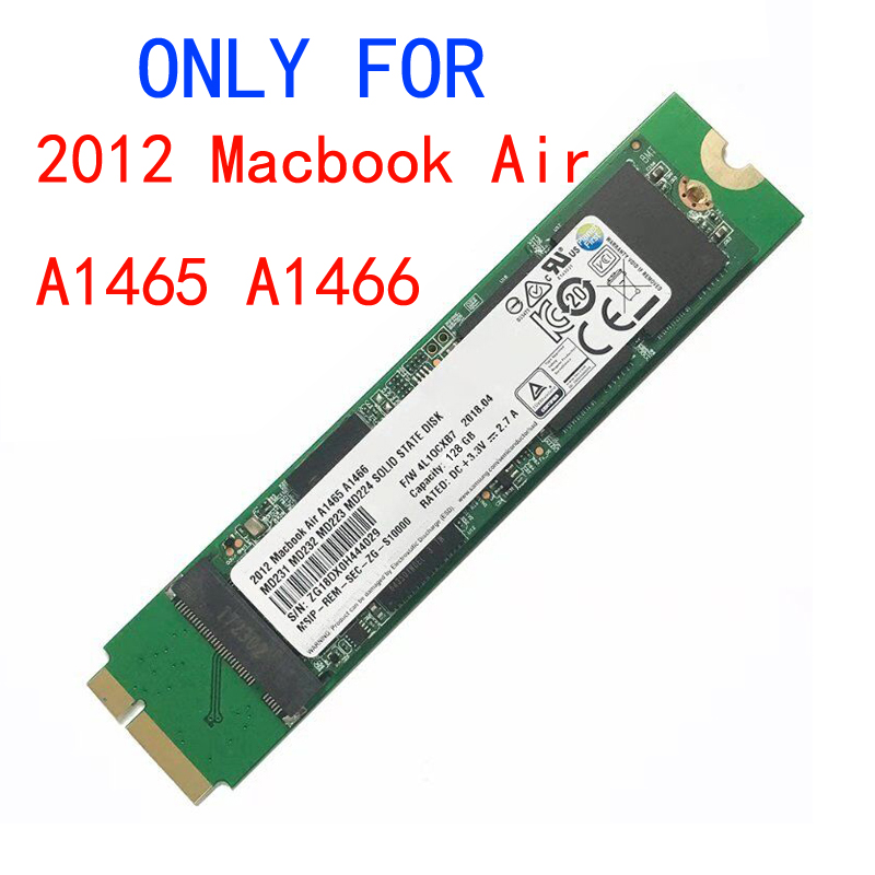 Nouveau 128GB 256GB 512GB 1 to SSD pour 2012 Macbook Air A1465 A1466 Md231 Md232 Md223 Md224 disque SSD MAC SSD