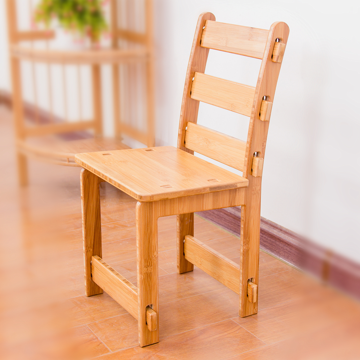 Eco friendly screwless bamboo wooden children kids chair for study table dining bedroom schoolroom safety environmental wood in children chairs from