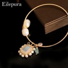 Eilepura Handmade Original Design Natural Fresh Water Pearl Stone Adjustable Bracelet For Women Wedding Jewelry B-A004