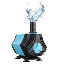 Aquarium Pump, 650L/H (170Gph 10W) Submersible Water Ultra Quiet Waterproof Fountain Pump With Two Nozzles For Fish