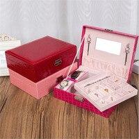 Jewelry Box Wooden Leather Watch Jewelry Box Home Storage Box