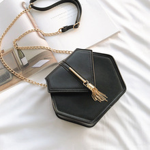 Female Flap Crossbody Bags For Women 2019 High Quality PU Leather Luxury Brand Handbag Designer Ladies Chain Tassel Shoulder Bag недорого