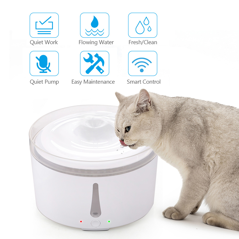 Silent Drinking Water Dispenser Electric Feeder Bowl WIFI Smart Automatic Pet Water Fountain for Cats Dogs