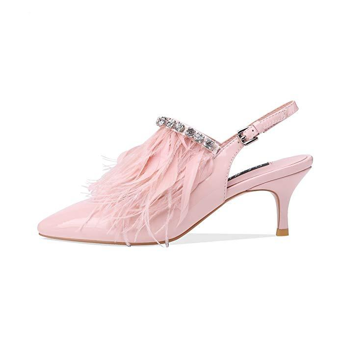 Moraima Snc 2019 The New Goddess Med Heel Girls Color Sweet Pink Pointed Toe Woman Summer Shoes Bling Crystal Elegant SandalsMoraima Snc 2019 The New Goddess Med Heel Girls Color Sweet Pink Pointed Toe Woman Summer Shoes Bling Crystal Elegant Sandals