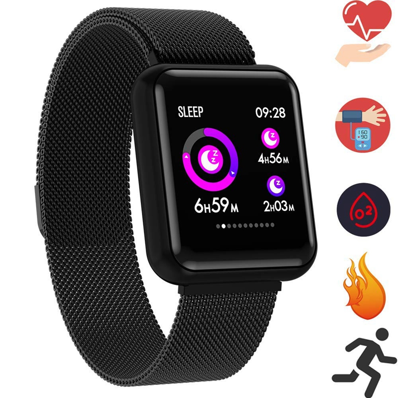 Sleep Monitor Smart Wristband Weather Forecast Smart Watch Men Heart Rate Monitor Wearable Devices for Android