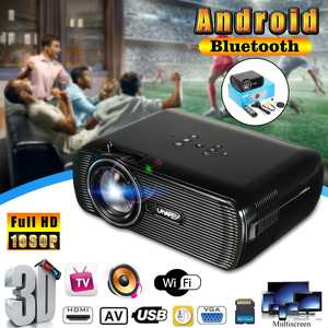 HDMI Mini Projector HD 1080 P Wifi 7000 Lumens Android Home Theatre Cinema Wireless
