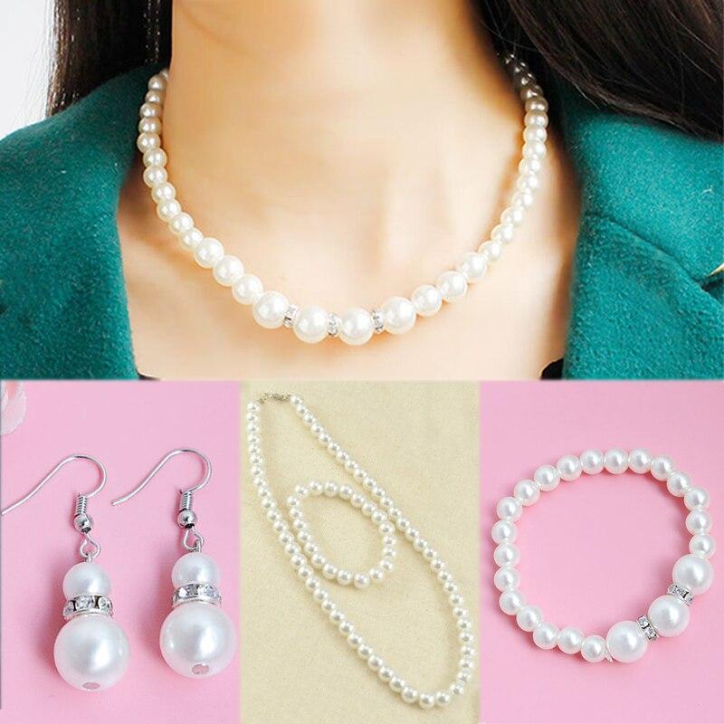 Bridesmaid Crystal Necklace Earrings Jewellery Bracelet Set Wedding Bridal Gift