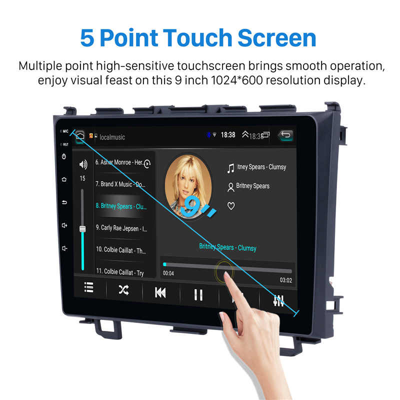 Seicane 2Din Android 8.1 Radio samochodowe wifi nawigacja GPS dla Honda CRV 2006 2007 2008 2009 2010 2011 odtwarzacz multimedialny głowy jednostka