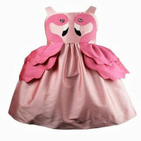 2019 3D Flamingo Dress Girl Kids Princess Swan Gown Children's Party Costumes Baby Infant Girl Evening Prom Dresses Size 1 5 7