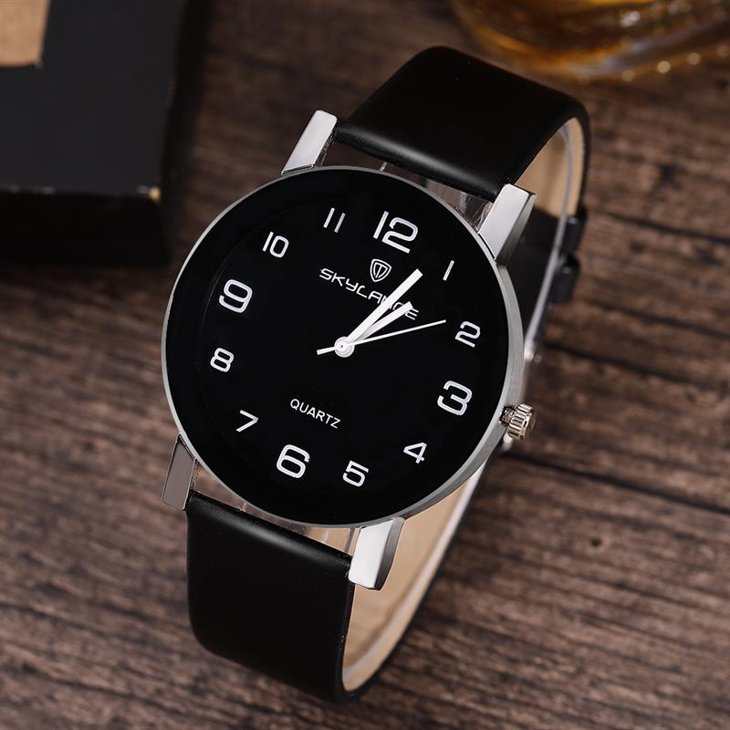 2019 Women Black Watch Hot Sale Leather Band Stainless Steel Analog Quartz Wristwatch Lady Female Casual Watches Mujer
