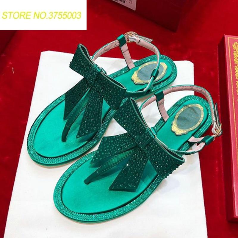 Charme Chaussures As 42 D'été Robe Dames Sandales as Chaude Appartements Vente Cristal Partie Show Ethnique Bohême Femmes Fée Fleurs Clouté Show Flops Flip SqFrgS