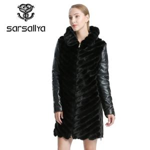 Image 2 - SARSALLYAธรรมชาติMink Coatแจ็คเก็ตผู้หญิงแจ็คเก็ตฤดูหนาวที่ถอดออกได้หนังขนสัตว์จริงผู้หญิงเสื้อผ้าเสื้อคลุมหญิง
