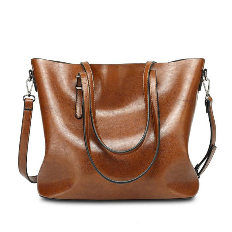 Women PU Leather Travel Bag Hand Elegant Totes Duffle Large Simple Bags Female With Shoulder Strap For Outdoor Traveling
