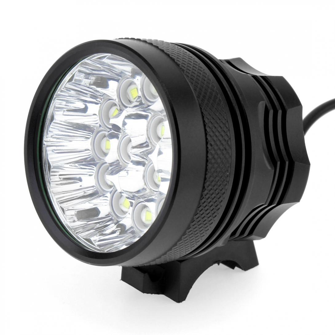 15x XM-L T6 LED Bicycle Lamp Bike Light Headlight Cycling Torch with 8.4V 6400mAh Battery Set