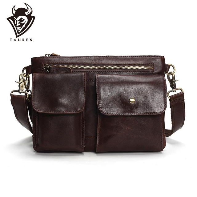 Tauren 2019 New Arrival Men's Shoulder Bag Satchel Genuine Cowhide Leather Messenger Bags For Men Rugged Portfolio