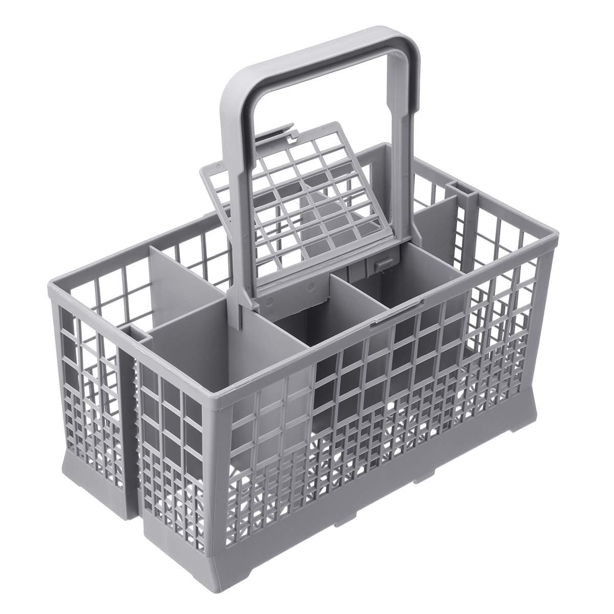 Universal Dishwasher Cutlery Basket 24x24x12cm Dish Washer Parts Plastic Storage Basket For Whirlpool Maytag Dishwashers