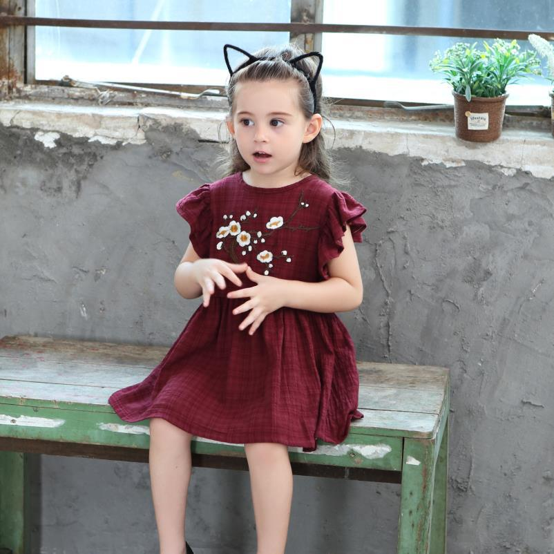 Kids girls dress 2019 summer new cotton embroidery sleeveless children 39 s clothing in Dresses from Mother amp Kids