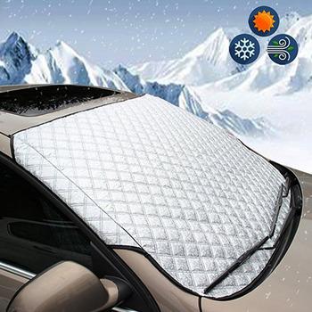 147*70cm pokrowiec na przednią szybę w samochodzie samochód moskitiera na okno światło słoneczne mróz lód śnieg osłona przeciwpyłowa tanie i dobre opinie CDIY Windshield Sunshades PE foam + aluminum foil surface layer