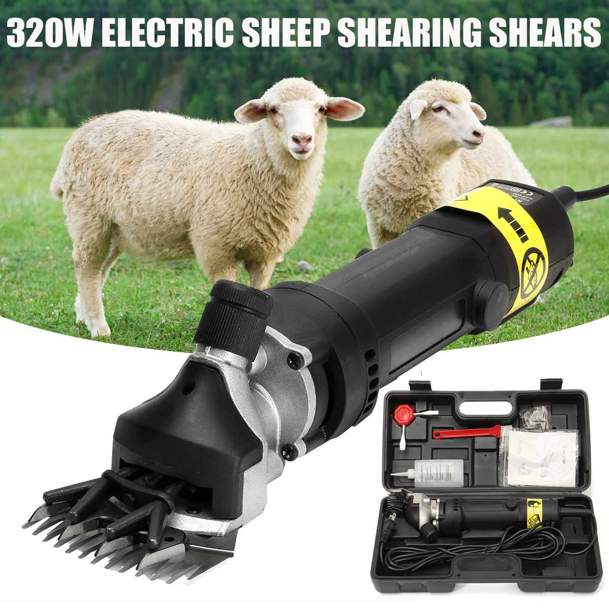 320W Electric Sheep Shears Clipper Goat Wool Cut Shearing Trimmer Farm Suppliers