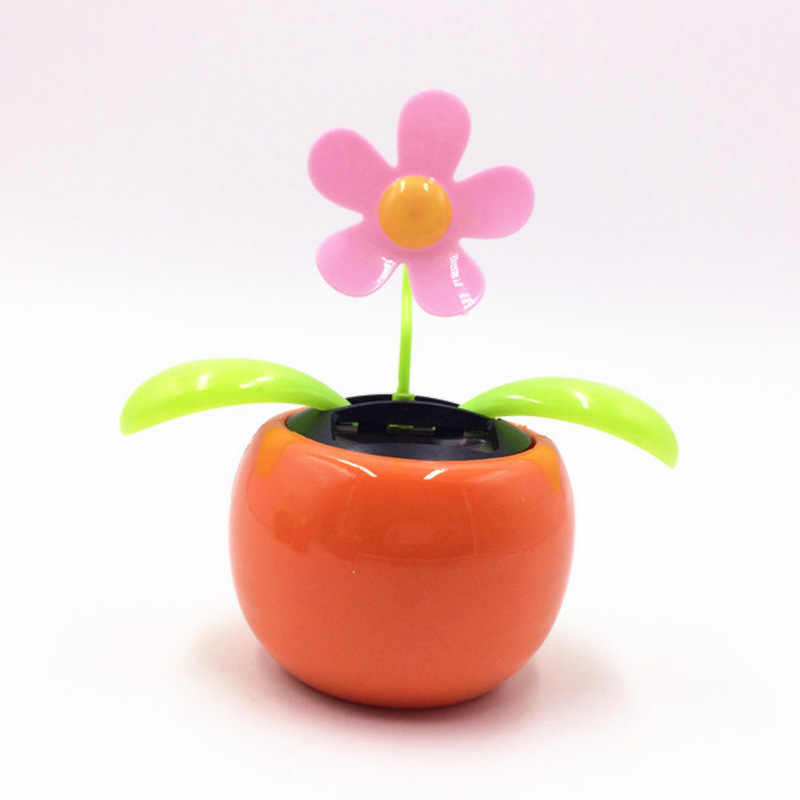 Interior Accessories Devoted Home Decorating Solar Power Flower Plants Moving Dancing Flowerpot Swing Solar Car Toy Gift Metal Plastic