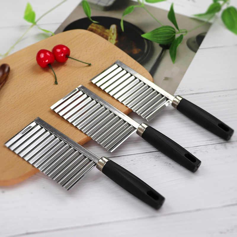 Ziemniaków faliste krawędziach nóż gadżet kuchenny ze stali nierdzewnej obieraczka do warzyw obieraczka do narzędzia kuchenne noże kuchenne akcesoria