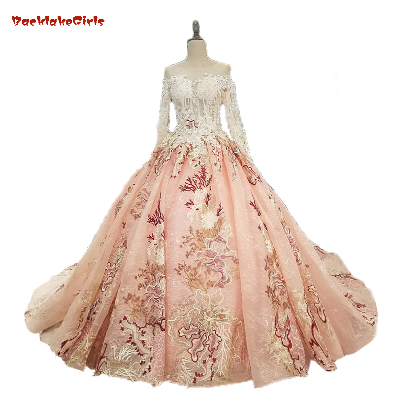 Wedding Gowns Stores: Aliexpress.com : Buy 2018 Arabic Style Off Shoulder 3d