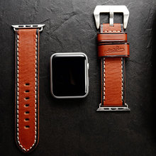 Newest Genuine Leather watch band straps for apple series 1 2 3 iwatch watchbands