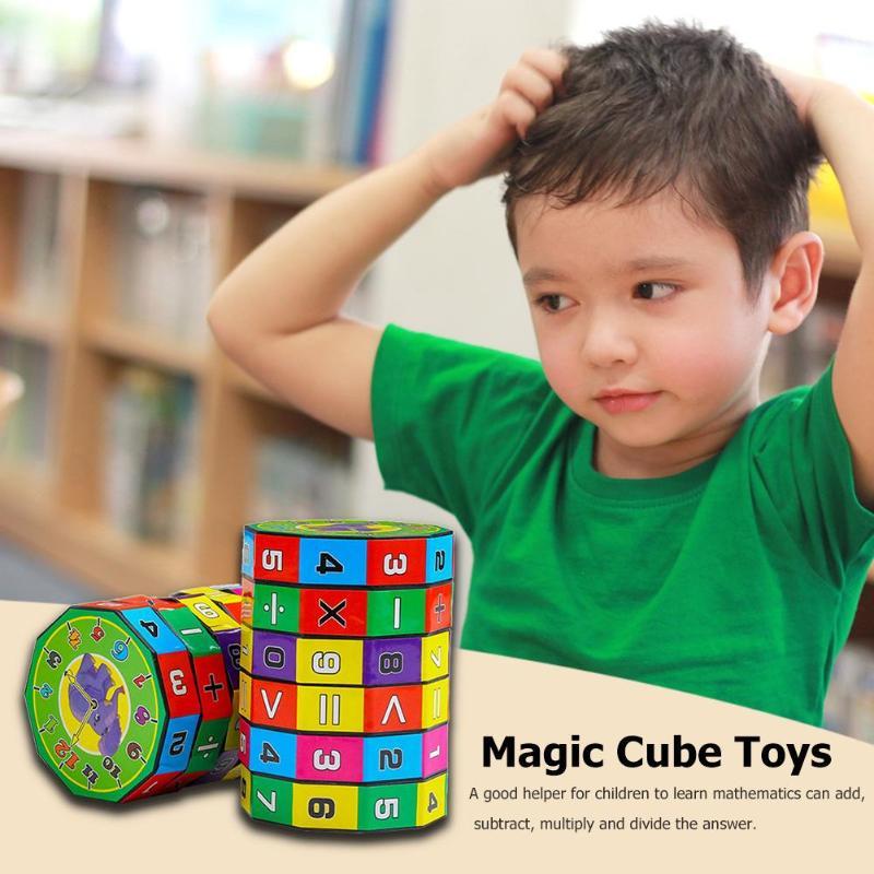 Kunststoff Zylindrischen Digitale Puzzle Magic Cube Berechnung Lernen Spielzeug Kinder Kinder Pädagogisches Spielzeug Geschenke Mathematik Lehre Exquisite Traditionelle Stickkunst