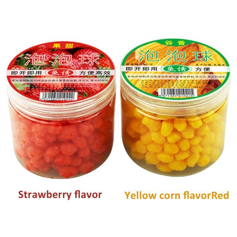 1 Bottle Pop Floating Carp Fishing Cereal Fruit Flavor Bait Balls Feeder Artificial Carp Boilies Baits Bola Isca De Pesca