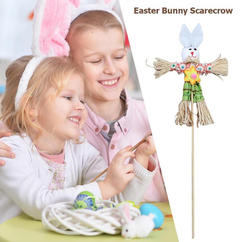 DIY Straw Rabbit Toy Easter Ornament Home Decor Children Creative Gift Kids Craft Easter Toys For Children Creativity Gift