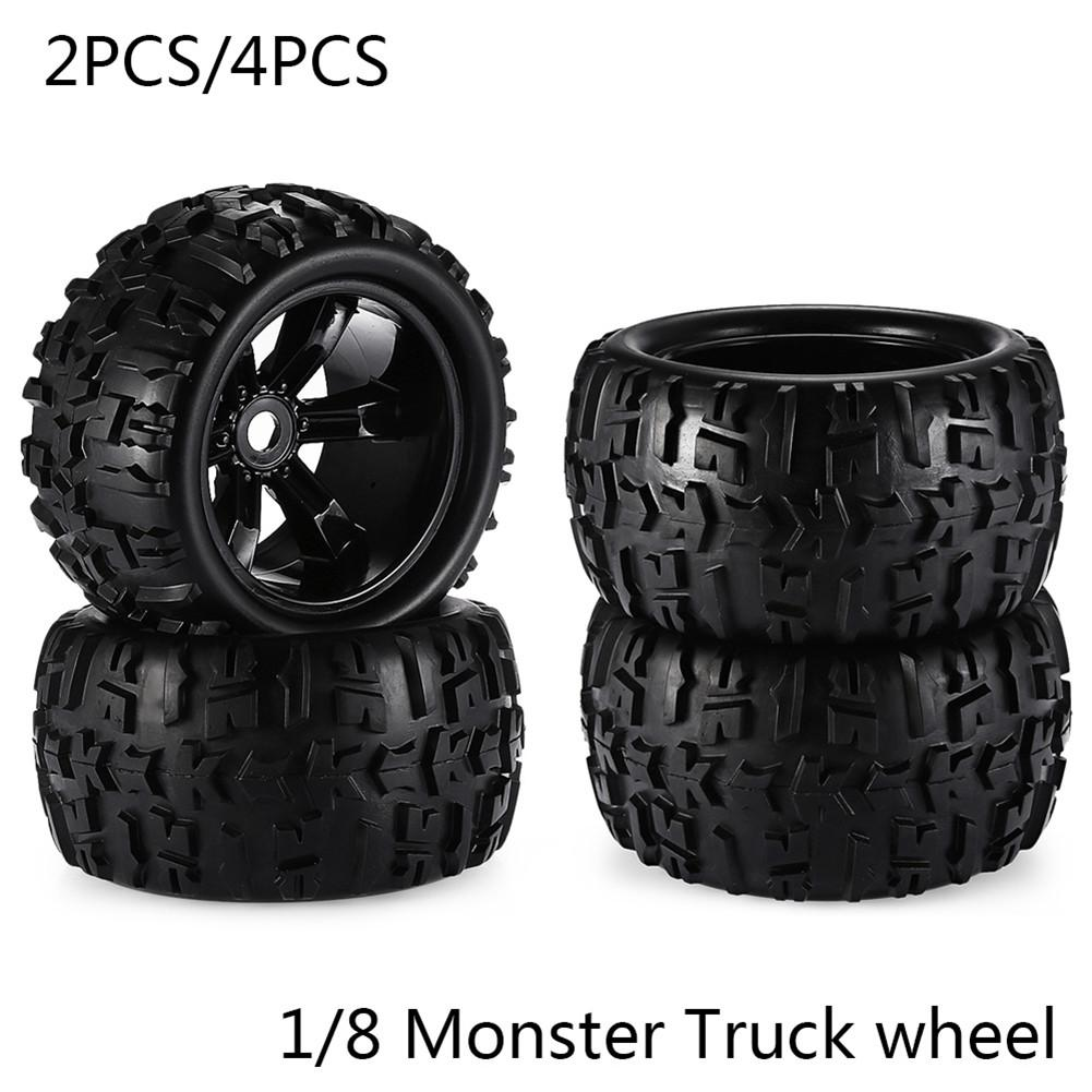 RC Car Off Road 1/8 for Monster Truck Bigfoot Tyre Tires 17mm Hex <font><b>Wheel</b></font> 2PCS/4PCS Toy car tire image