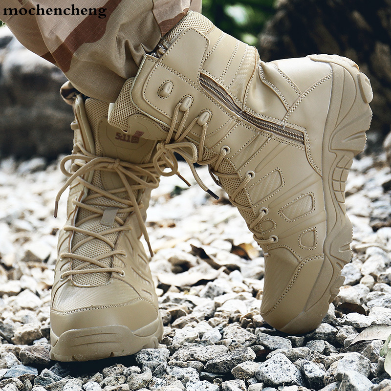 Winter Men Military Boots Quality Special Force Tactical Desert Combat Ankle Boats Army Work Shoes Keep