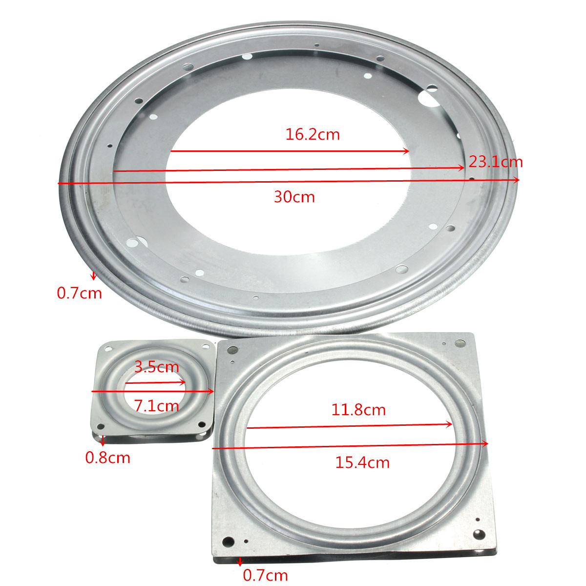 Aluminium Rotating Bearing Turntable Round Swivel Plate Tv Computer Rack Desk