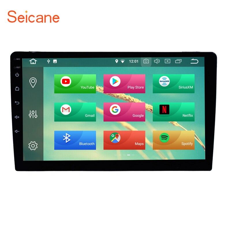 Seicane 9 дюймов 1 Din Универсальный Android 8,1/8,0 автомобиль радио gps навигации стерео плеер аудио Зеркало Ссылка руль управление