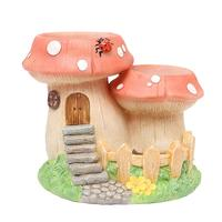 1 Pc Micro Hanging Artificial Landscape Creative Tiny Plants Flowers Succulent Garden Pot Holders (Mushroom)