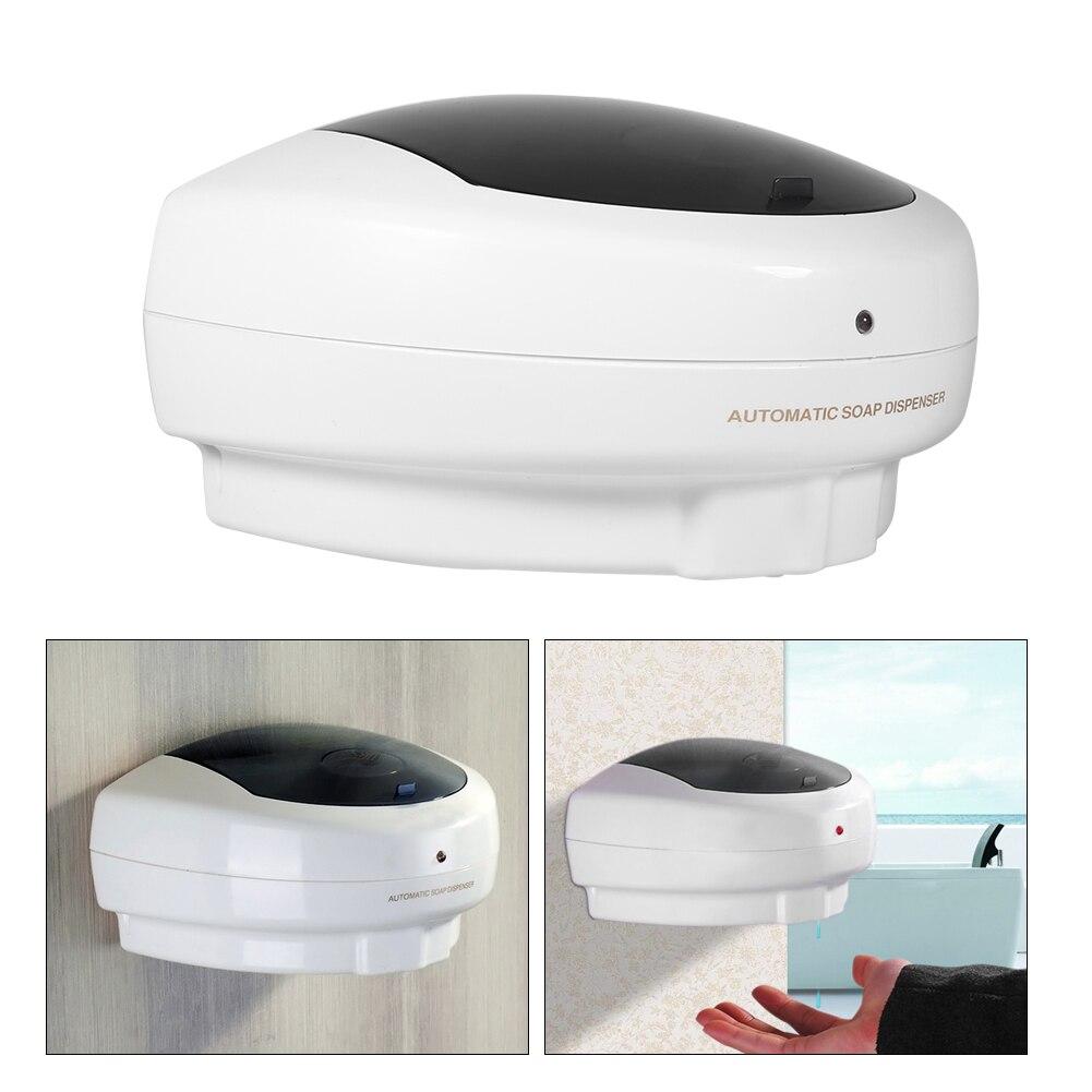 500ml dispensador de sabão automático mão livre sensor chuveiro  shampoo líquido sabão loção caixa fixado na parede do recipiente de  sabão para cozinhaDispensadores de sabão líquido