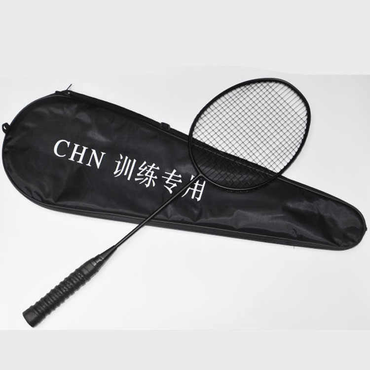 30 Pounds Full Carbon Badminton Racket Durable Aggravated Darksteel Epee Single Training Racquet With Free Strings Q1029CMD